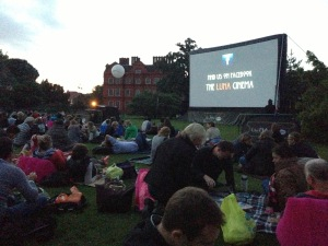 The open air cinema at Kew Gardens